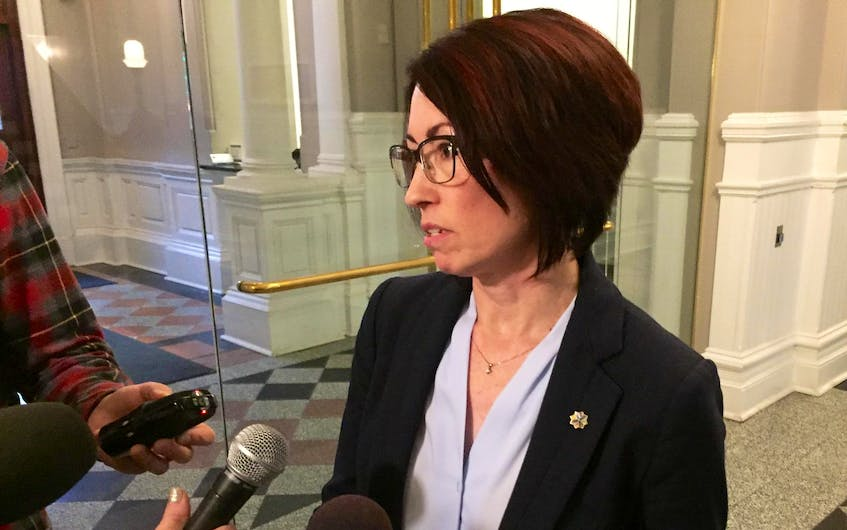 Evangeline Colman-Sadd, auditor general for Halifax Regional Municipality, speaks to the media in January. - Francis Campbell