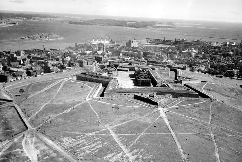 The Halifax Citadel and Harbour, by Harold Reid, from the McCully Aerial Collection, Aug. 29, 1931.