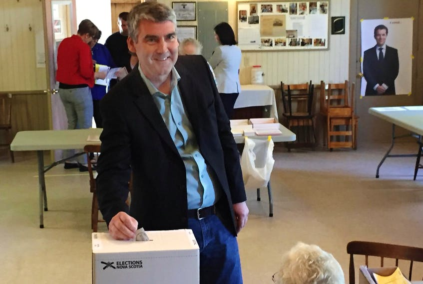 Stephen McNeil cast his ballot during the Nova Scotia provincial election on May 30, 2017. - SaltWire