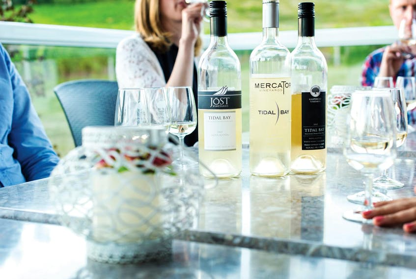 Tidal Bay, Nova Scotia's signature wine, is enjoyable on its own as a crisp, refreshing summertime white or paired with fresh seafood and salads. - Tourism Nova Scotia