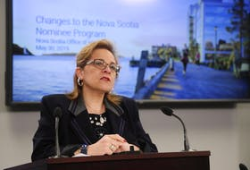 Immigration Minister Lena Metlege Diab announces a new immigration stream and changes to existing streams during a news conference in Halifax on Thursday. , May 30, 2019. Tim Krochak/ The Chronicle Herald