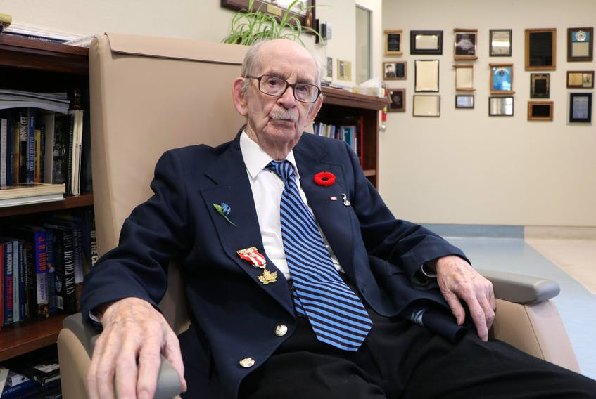 George Thomas Hudson, 97, of St. John's was a member of the 59th Newfoundland Heavy Regiment, Royal Artillery, during the Second World War. They were waiting anxiously on the shores of England during D-Day for their turn to enter the battle after the landing troops got a foothold on the beaches of Normandy. - Glen Whiffen