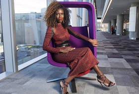 Marketing executive Bozoma Saint John poses for a photo at the Halifax Convention Centre on Friday after speaking at the keynote luncheon for the Black Business Summit 2019.