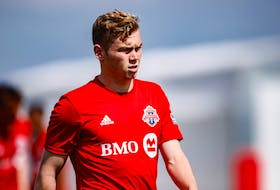 Jacob Shaffelburg of Port Williams during his time with Toronto FC II in the USL League One. - Twitter