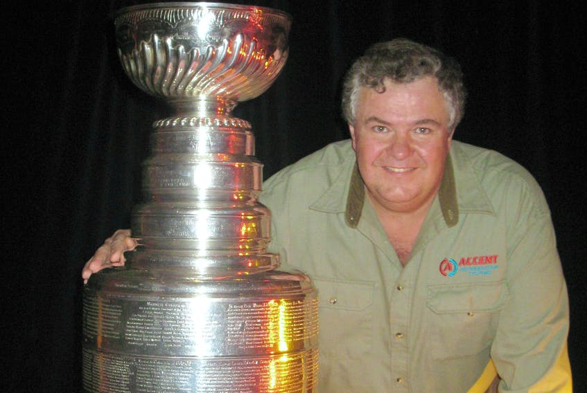 Art Sutherland, seen here with the Stanley Cup at an ice rink in Las Vegas, is president of Accent Refrigeration Systems, a Victoria, B.C., company that designs innovative and reliable systems for recreational ice facilities around the globe. - Contributed
