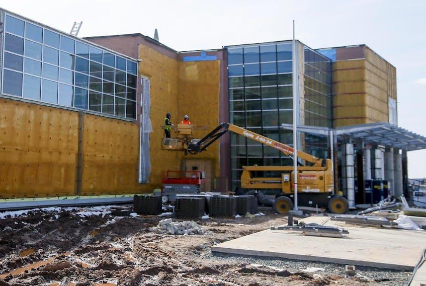 Island View High School, still under construction in April 2018, in Eastern Passage. - Tim Krochak / File