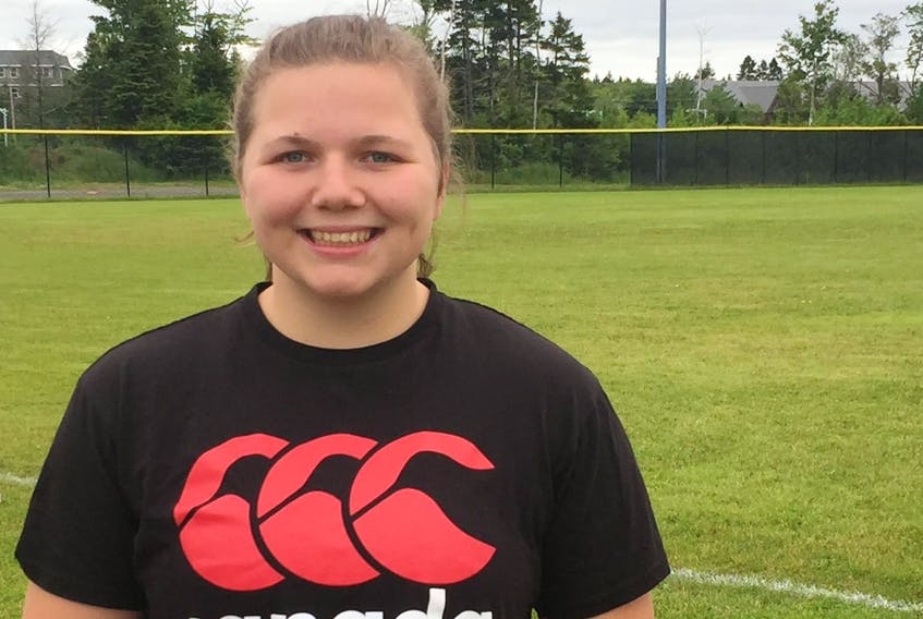 Claudia Fulton of Aylesford, who is hearing impaired, has been selected for Canada's U-20 rugby team. - Bill Spurr