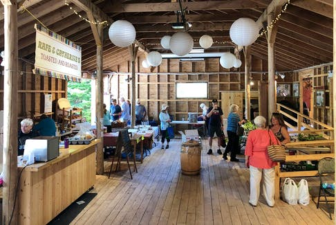 Hubbards Barn is a community meeting place on Saturday mornings. - Helen Earley