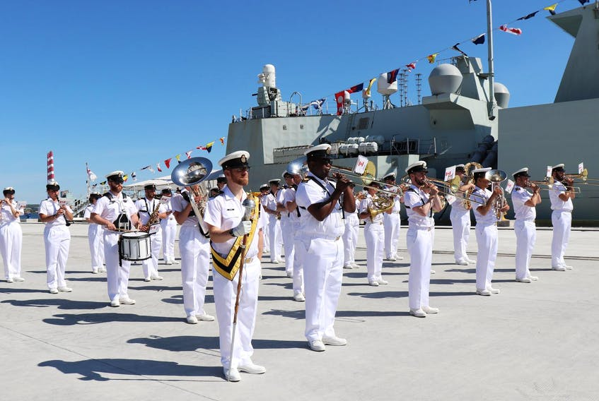 Commodore Craig Skjerpen turned over command of the Canadian Fleet Atlantic to Commodore Rich Feltham at a ceremony in Halifax on Thursday morning. - Maria Meigl