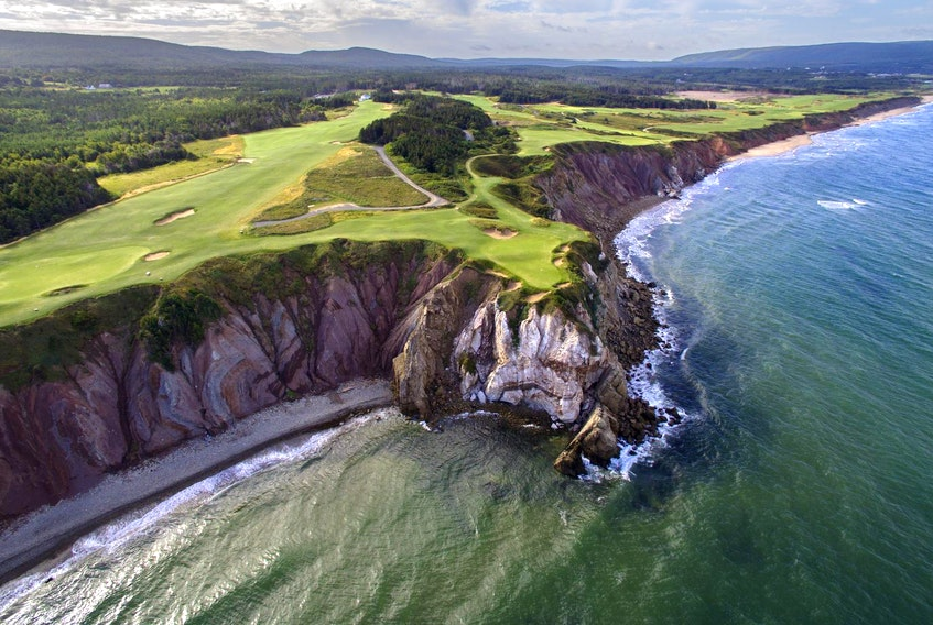 The 16th hole of Cabot Cliffs golf course on Cape Breton Island. - Evan Schiller