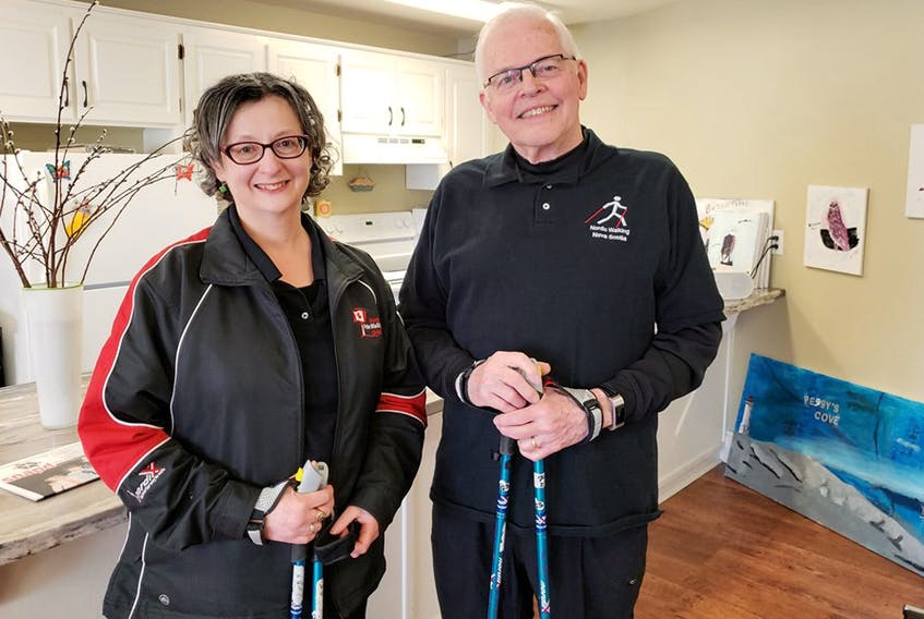 Bill and Esther VanGorder operate Nordic Walking Nova Scotia, which offers Nordic walking beginner and intermediate clinics, as well as instructor certification courses.