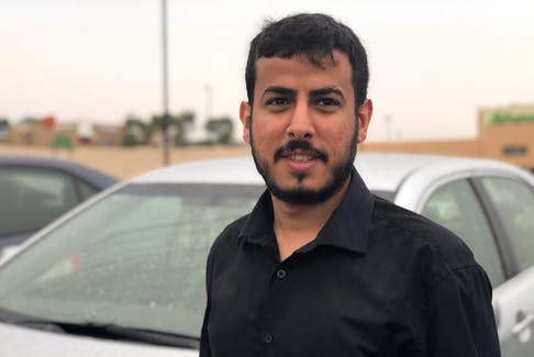 Ahmed Alshehri came to Halifax as an international student. He works as a full-time taxi driver. - Maan Alhmidi