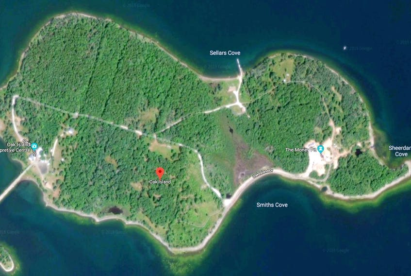 Oak Island near Chrster Nova Scotia - Google Maps