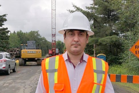 Haider Alsaeq on site in Cape Breton island working on a project for Nova Scotia's department of transportation and infrastructural renewal. - Contributed