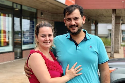 Elie Botros and Hanin Hassan landed in Halifax a month ago. The wife started working in a restaurant and the husband is applying for a job with a construction firm.
