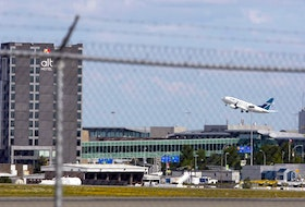 A WestJet airplane takes off from Halifax Stanfield International Airport on Aug. 31, 2018. - Eric Wynne