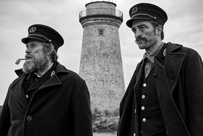 Willem Dafoe, left, and Robert Pattinson star in The Lighthouse, which will be shown at the closing gala at this year's FIN Atlantic International Film Festival.