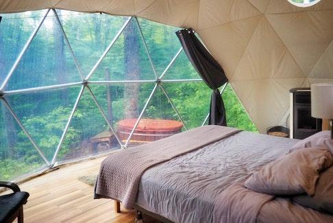 Inside the Dream Dome at Ridgeback Lodge. - Gina Alward