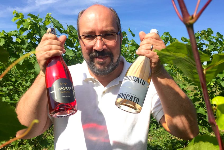 An international trend towards lighter-alcohol wines has encouraged Domaine de Grand Pre winemaker Jurg Stutz to keep pace by producing its own version called Moscato. - Bill Spurr