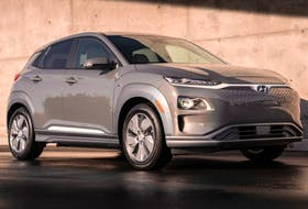 The Kona electric is powered by a 150 kW electric motor, and a 64 kWh lithium polymer battery which generates 201 horsepower and 209 lb.-ft. of torque. - Hyundai