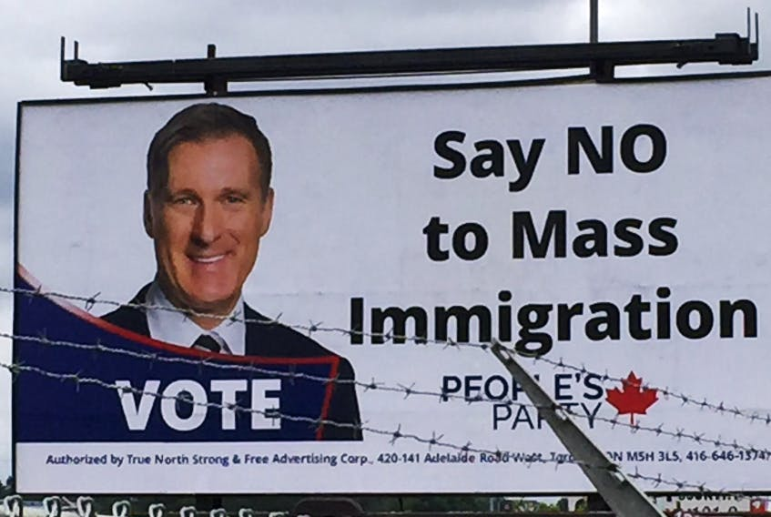 This billboard on the Bedford Highway is being removed after a public outcry. - Chris Lambie