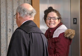 Renee Allison Webber is shown at Nova Scotia Supreme Court in Halifax last December at her sentencing hearing on pimping-related charges, including trafficking a person under the age of 18. - Tim Krochak