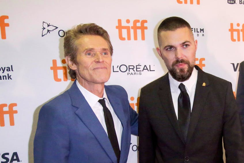 Willem Dafoe, left, and director Robert Eggers arrive for the North American premiere of the thriller The Lighthouse at the Toronto International Film Festival (TIFF) in on Saturday, Sept. 7, 2019. - Chris Helgren / Reuters