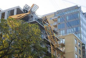 Some businesses and residents who live near where the crane collapsed have been evacuated. - Ryan Taplin