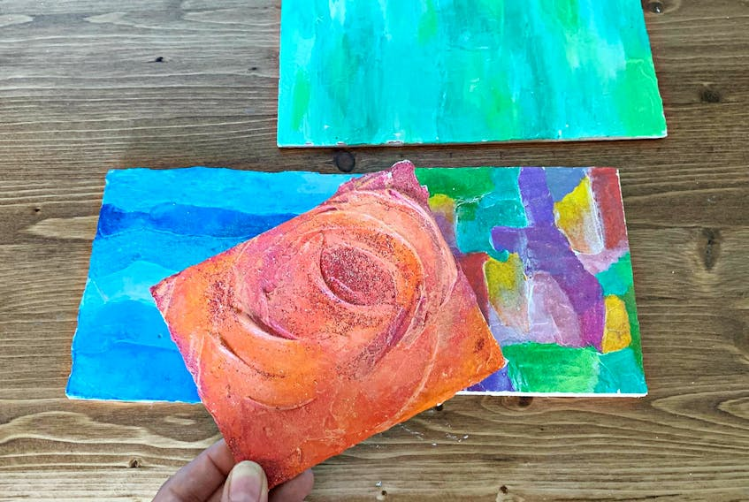 These mini paintings are inexpensive to create, and the impasto texture makes them look quite impressive. - Heather Laura Clarke