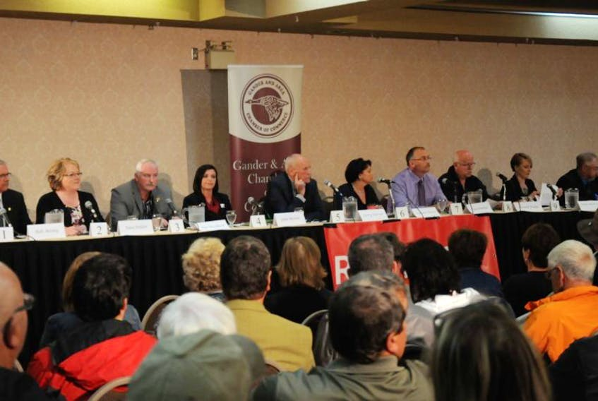 Ten out of the 11 candidates took part in the debate
