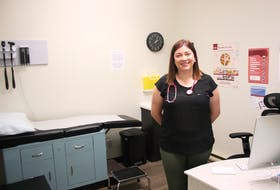 Dr. Erin FitzPatrick, pictured in her examination room in Burin, says the current fee-for-service system used to compensate community-based family doctors in Newfoundland and Labrador prioritizes patient volume over quality of care. PAUL HERRIDGE/THE SOUTHERN GAZETTE