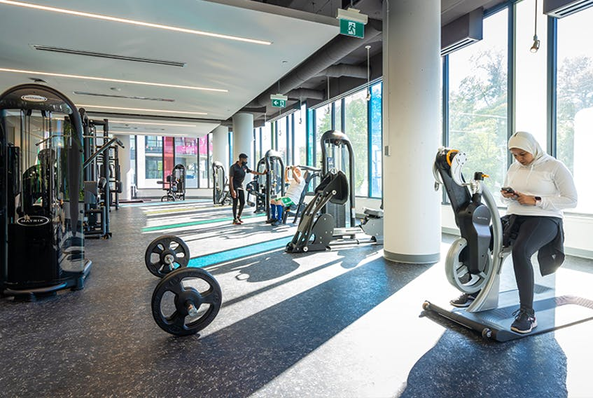 Pictured here is the cardio room at the John W. Lindsay YMCA.