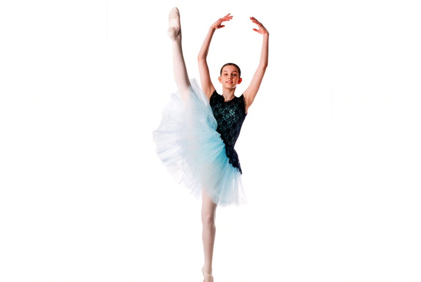 Eden Robichaud has been studying ballet since she was a preschooler. The 12-year-old recently auditioned for the National Ballet School and was selected to go on to round two auditions, which involve an intensive summer program in Toronto. JOHANNA MATTHEWS PHOTO