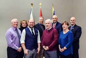 Berwick's town council welcomed a few new members to the table in 2016, and there will be at least one newcomer added to the mix following the Oct. 17 election.  Back row: Anna Ashford-Morton, Rod Reeves, Mayor Don Clarke and chief administrative officer Michael Payne.  Front row: Mike Trinacty, Ty Walsh, Barry Corbin and Jane Bustin.