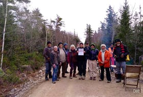Members of the group Extension Rebellion, who have been blocking access roads to WestFor forestry operations for nearly two months, were served an interim injunction Friday to remove the blockades.