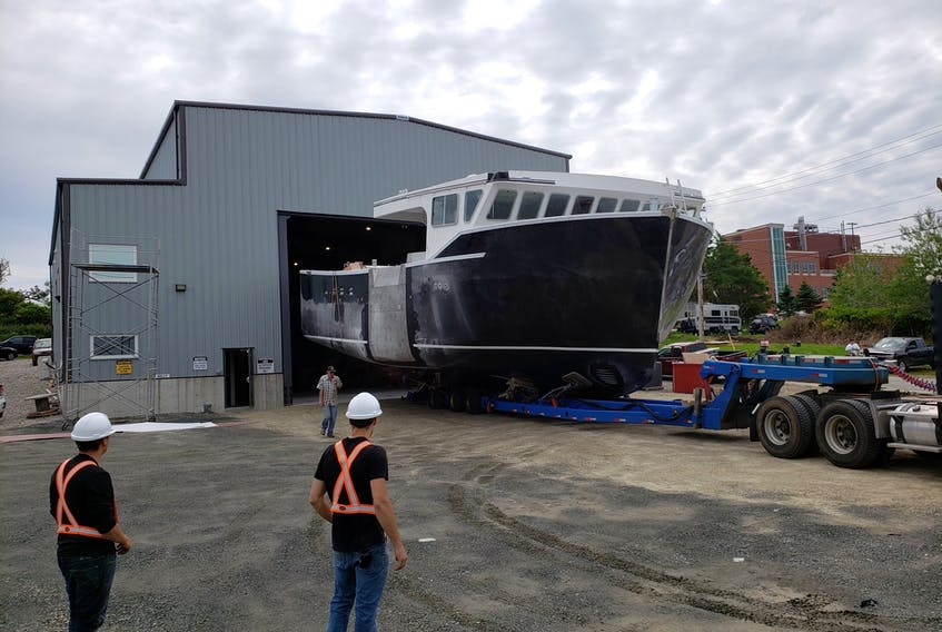The vessel Ocean Swell was launched from Bayview Marine Ltd. in Yarmouth earlier this year. Mark Doucette photo