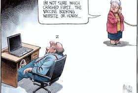 Bruce MacKinnon's editorial cartoon for March 5, 2021.