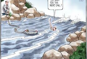 Bruce MacKinnon's editorial cartoon for March 17, 2021.