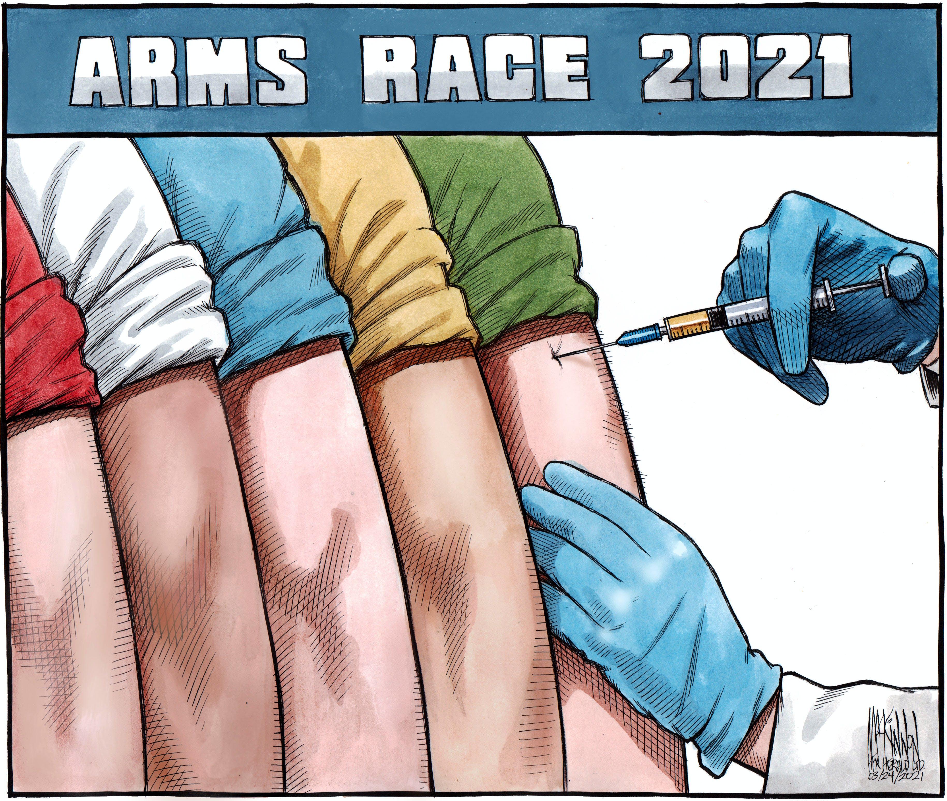 Bruce MacKinnon's editorial cartoon for March 24, 2021.
