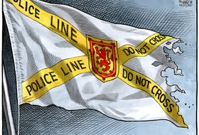 Bruce MacKinnon cartoon for April 22, 2020. Mass shooting, nova scotia, nova scotia strong, petipique, 23 victims.