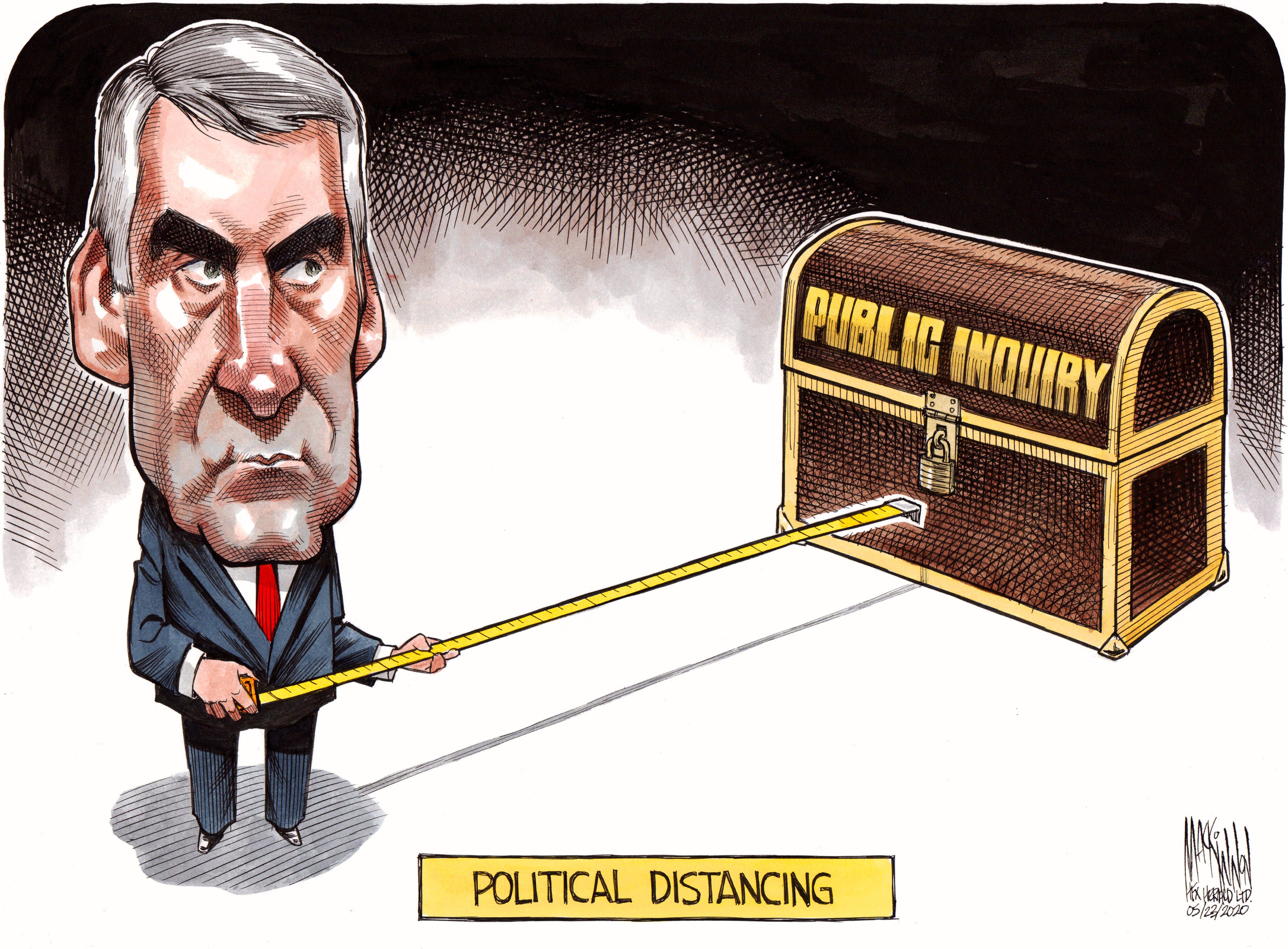 Bruce MacKinnon's editorial cartoon for March 23, 2020.