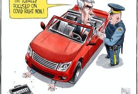 Bruce MacKinnon's editorial cartoon for November 19, 2020.