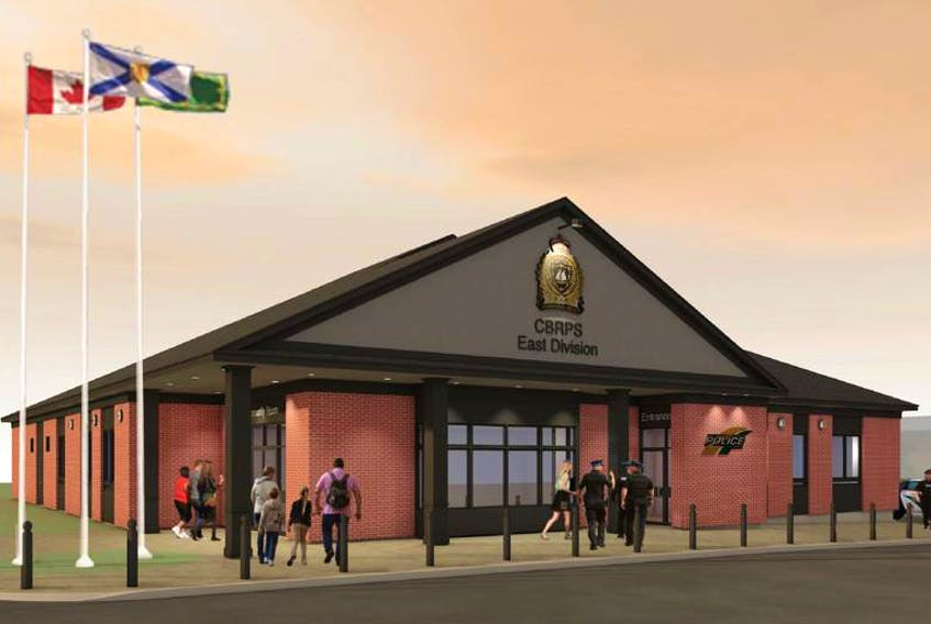 A conceptual drawing of what the Cape Breton Regional Police East Division headquarter will look like. Lindsay Construction Ltd. was awarded the tender for the design and build and Cape Breton regional director Howie Doiron said he thinks the end result will be very similar to this rendering.