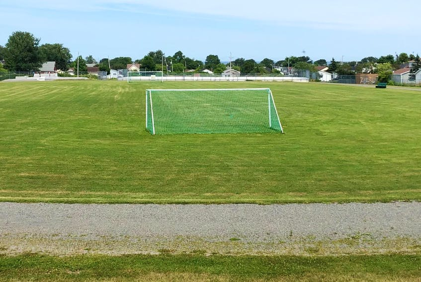 Pictured is the MacKinnon Field, located on Eighth Street in New Waterford. The location will soon be home to a new artificial turf soccer field, tennis courts and walking track as the current facilities will relocated to make way for the planned health-care redevelopment that will include a new Breton Education Centre, health care and long-term care home.