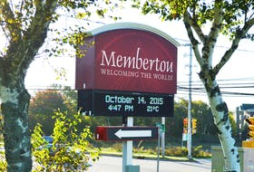 This file photo shows the sign indicating the way to Membertou First Nation.