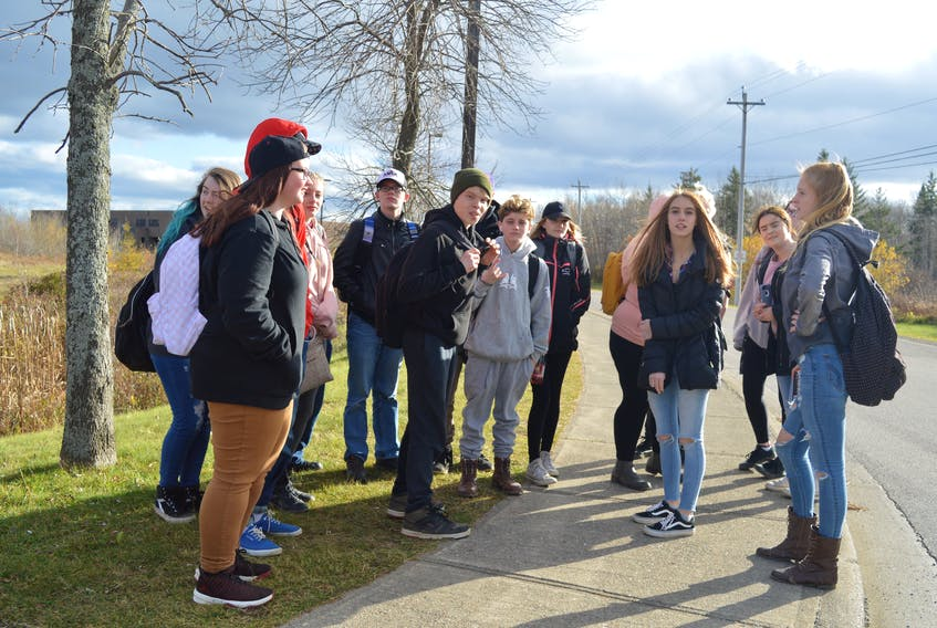 A group of students walked out of classes at Glace Bay High on Friday afternoon to protest bullying at the school and the school's response to a recent incident.