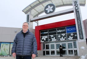 Mayflower Mall manager Greg Morrison stands outside of the mall on Friday shortly after it was announced that Old Navy will set up shop in Cape Breton this fall. Some 13,000 square footage in the mall will house the clothing store.