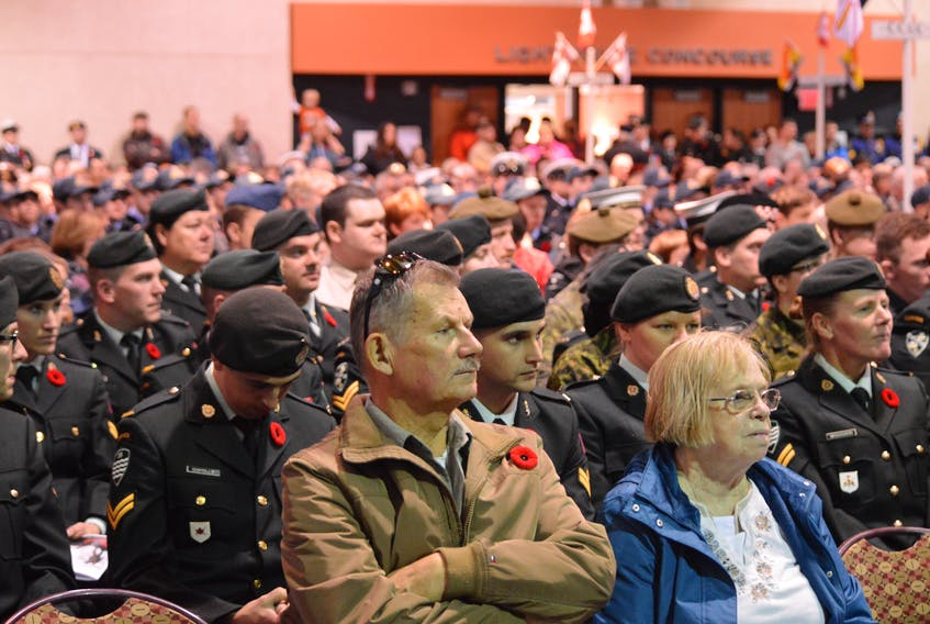 Veterans, legion members and members of the public were out in force on Nov. 11, 2016 to take in Sydney's Remembrance Day service at the Joan Harriss Cruise Pavilion.