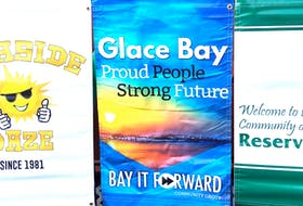 A look at the banners Bay it Forward purchased for Glace Bay, Dominion and Reserve Mines, through a $50,000 beautification grant they secured cost shared by the Cape Breton Regional Municipality and province of Nova Scotia. Bay it Forward got 35 for Glace Bay, 15 for Dominion and 15 for Reserve Mines.