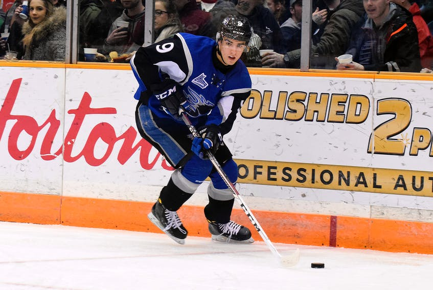 Joe Veleno of the Saint John Sea Dogs is headed to the Drummondville Voltigeurs, according to media reports, which will start the QMJHL's holiday trade period off with a bang on Monday if the move comes to fruition. QMJHL photo
